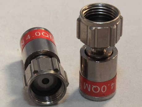 Cabelcon F-MINI-TD QM 4.0 SHORT - Quick-Mount F-Kompressionsstecker, TrueDrop, wasserdicht