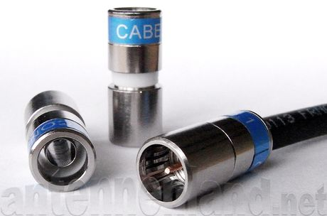 Cabelcon F-SC-56-CX3 5.1 Short  F-Spring-Connect-Kompressionsstecker